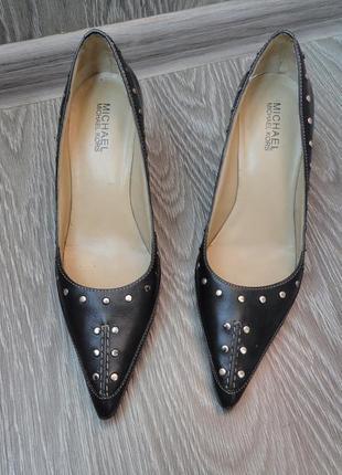 Туфли кожа michael kors, 37р, классические, черные