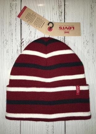 Стильная женская зимняя шапка levis новая с бирками оригинал