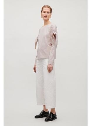 Блуза\топ с завязками  на рукавах cos
