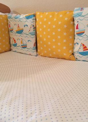 Бортики защита бамперы в кроватку4