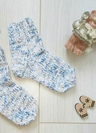 Теплые детские вязаные хлопковые носки для дома, в сапоги, ботинки, кроссовки