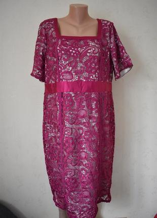 Шикарное кружевное платье большого размера berkertex