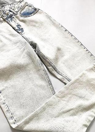 Светлые джинсы asos  высокая посадка  р 8(s)