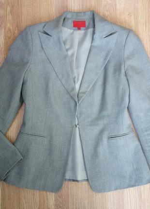 Стильный, классический, деловой пиджак. размер укр.46-48, евро 38 цвет серый.