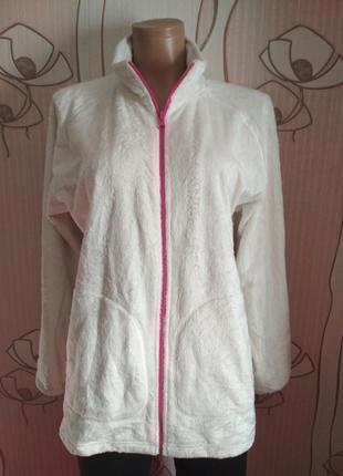 Белая флисовая куртка / флиска