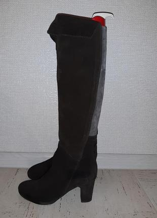 Женские сапоги в отличном состоянии,  натуральная замша, размер 38