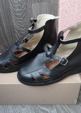 Ортопедические сандали, босоножки, балетки 37р, кожа