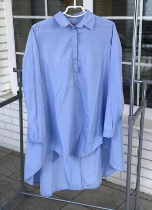 Крутая и стильная рубашка оверсайз свободная блуза длинная