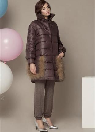 Зимняя куртка пуховик с накладными карманами от anna yakovenko