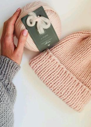 Тёплая шапка из шерсти мериноса♥