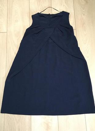 H&m mama для беременных платье туника беременные синий сарафан