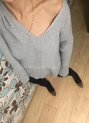 Asos свитер оверсайз крутой пуловер кофта толстовка худи кардиган свободный серый