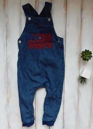 Bluezoo стильный джинсовый комбинезон на коттоновой подкладке на мальчика  18-24 мес