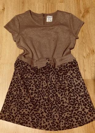 Платье золотистое леопардовое италия primigi
