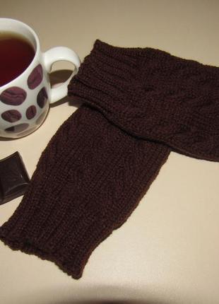 Минетки вязанные перчатки без пальцев