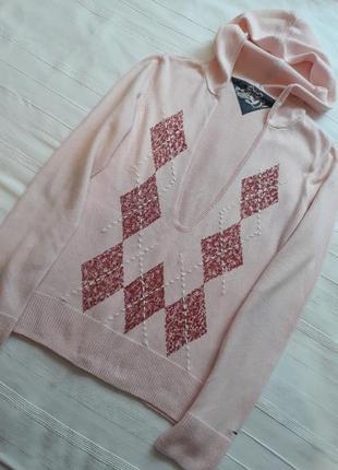 Tommy hilfiger брендовый теплый джемпер#свитшот#свитер#худи#пуловер, хлопок#кашемир.