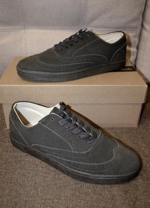 Кожаные лоферы туфли на шнурках blend 43 и 45 размер