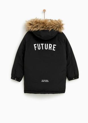 Теплая зимняя куртка парка zara