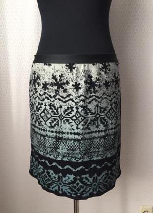 Шерстяная юбка в стиле кежьюал от marc cain (линия sports), размер 6 (укр 48-50)