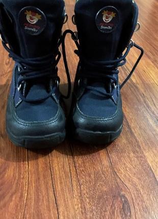 Сапоги демисезонные, осень, зима, ботинки , синие