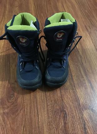 Сапоги демисезонные, осень, зима, ботинки , синие2