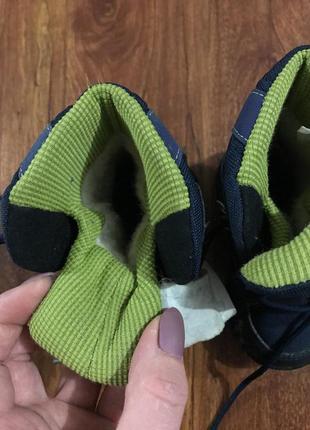 Сапоги демисезонные, осень, зима, ботинки , синие5