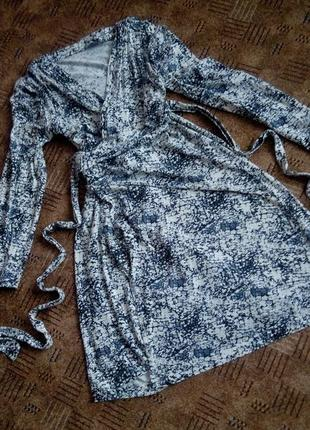 Платье миди бюстье 52-54 размер принт топ лук скидка sale