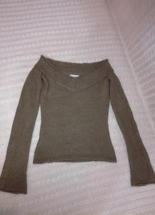 Красивая мягкая мохеровая кофта свитер mango, р.xs/s (6/8)