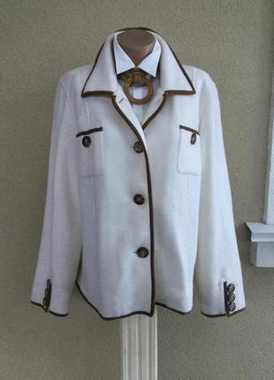 Шерстяной жакет(пиджак),кофта,кардиган,100% шерсть,orvis,большой размер,эксклюзивная,
