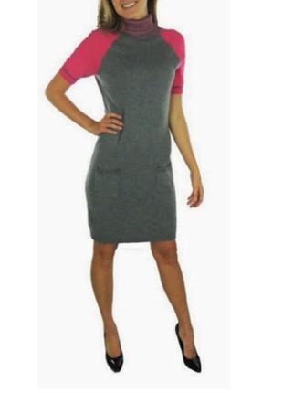 """Tommy hilfiger платье-свитер (m) воротник """"гольф"""" с отворотом и короткими реглан-рукавами"""