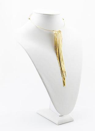 Колье чокер волна. украшение, колье, золотое, качественная бижутерия