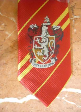 Галстук с гербом гриффиндор, классический в полоску, гарри поттер косплей
