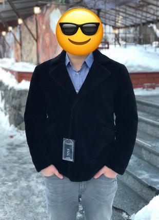 Куртка мужская пиджак натуральная овчина 100%