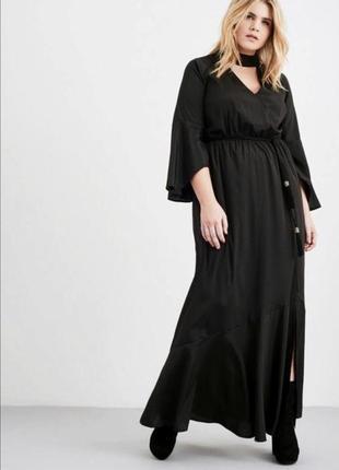Крутое длинное платье в пол