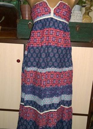 Длинное платье сарафан из коттона/ситца new look