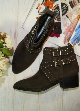 Graceland. стильные ботинки цвета хаки