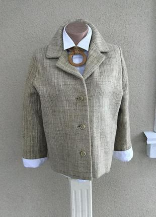 Винтаж,массивный жакет,пиджак,куртка,лен,полотняный,эксклюзив,этно,бохо,деревенский стиль