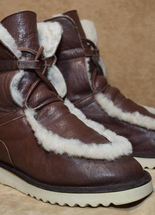 Угги ботинки сапоги navyboot зимние овчина цигейка. италия. оригинал. 37 р./23.5 см.