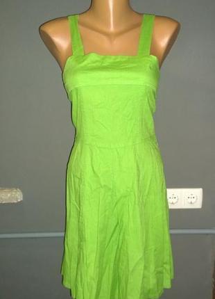 Платье сарафан из 100% льна