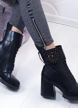 Новые черные демисизонные ботинки размер 36,37,38,39,40