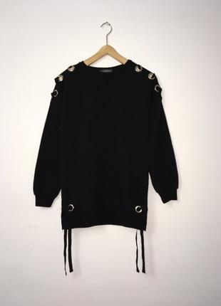 Крутой удлиненный свитшот с завязками, стильный оверсайз свитер 💥