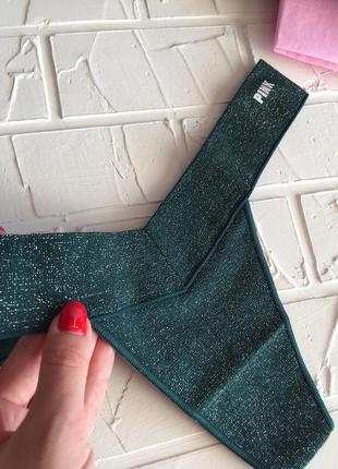 Зеленые трусики victoria's secret pink оригинал стринги виктория сикрет