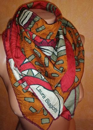 Шикарный платок из натурального шёлка