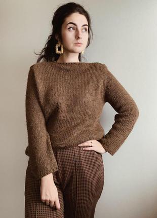Шоколадный свитер от zara