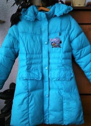 Пальто красивейшего бирюзового цвета