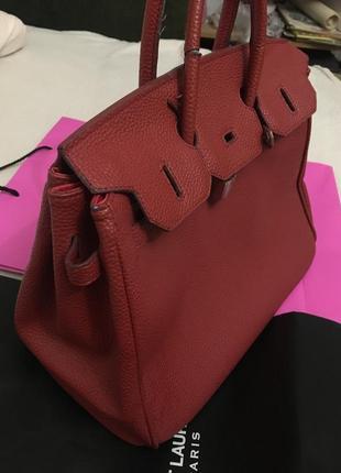 Прессованная кожа сумка