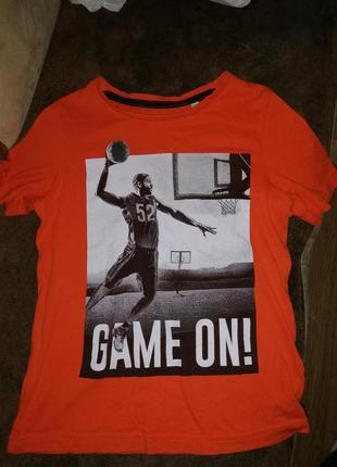 Футболка стильная на мальчика принт баскетбол