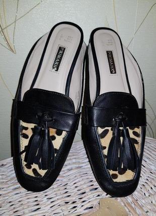 Мюли с леопардовым принтом