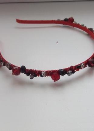 Красный обруч ободок для волос