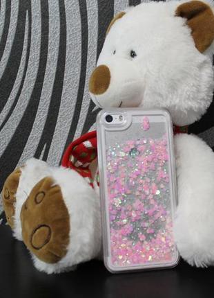 Чехол накладка с блестками для iphone 5 5s